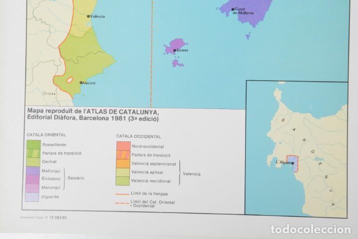 Coleccionismo: Lámina de mapa Domini linguüístic del catalá - Foto 5 - 254522155