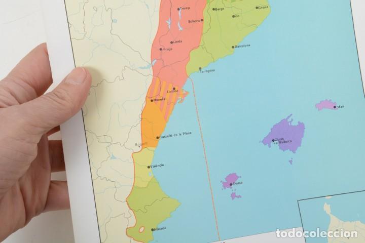 Coleccionismo: Lámina de mapa Domini linguüístic del catalá - Foto 6 - 254522155