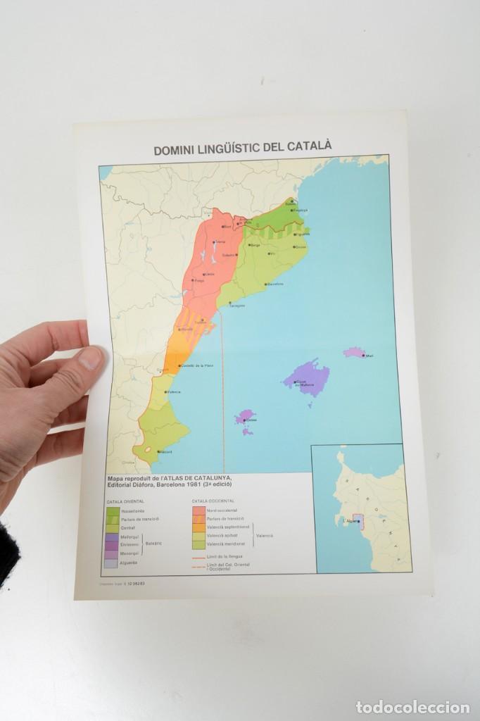 Coleccionismo: Lámina de mapa Domini linguüístic del catalá - Foto 7 - 254522155
