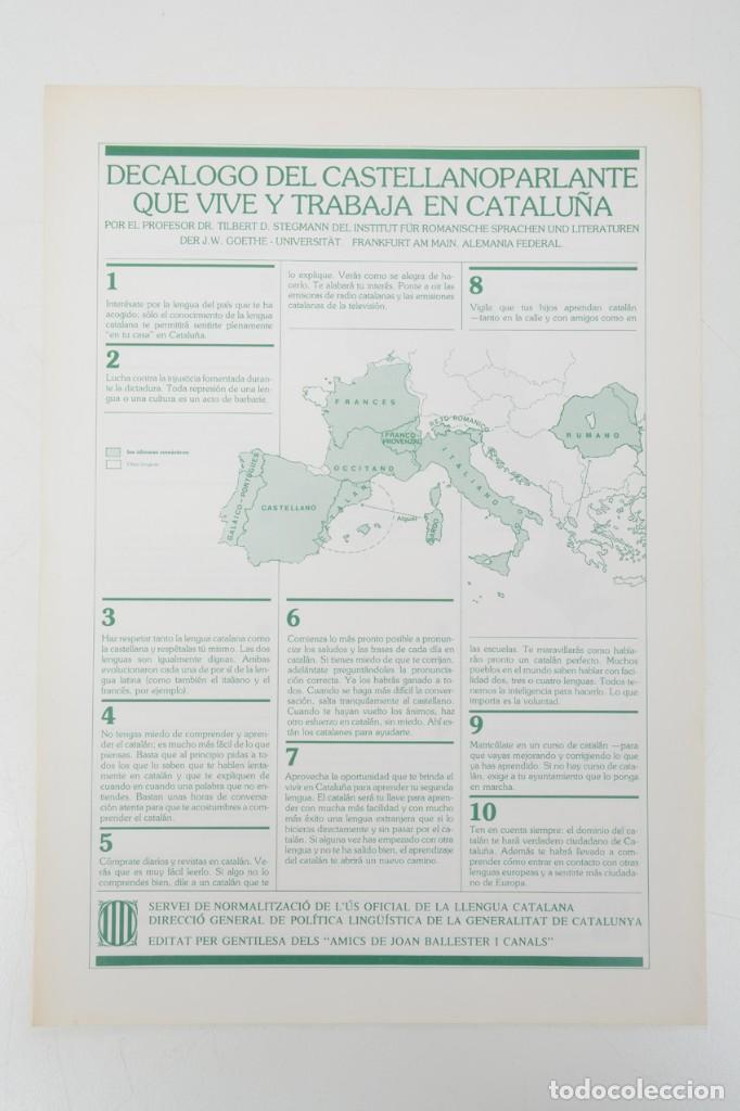 Coleccionismo: Decàleg del catalanoparlant 1983 - Foto 2 - 254522735