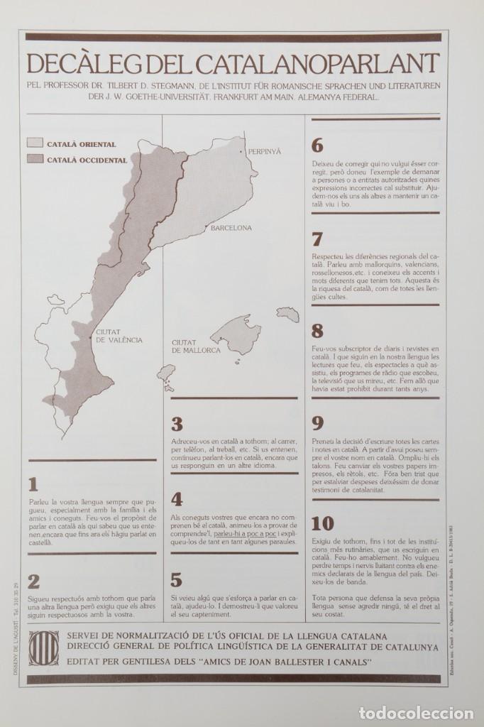 Coleccionismo: Decàleg del catalanoparlant 1983 - Foto 3 - 254522735