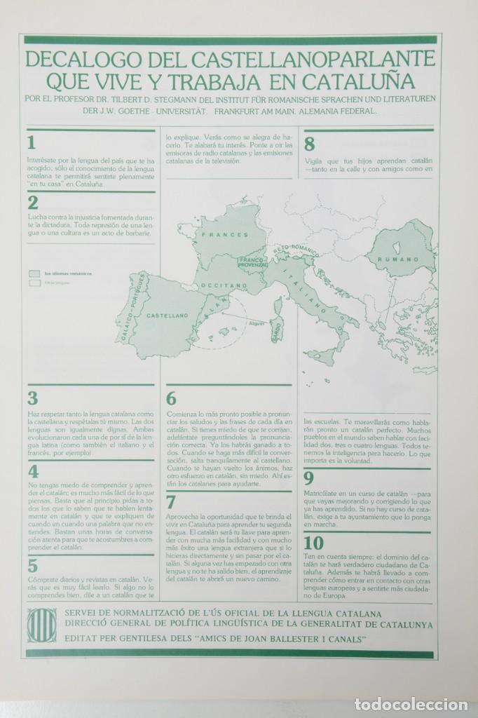 Coleccionismo: Decàleg del catalanoparlant 1983 - Foto 4 - 254522735