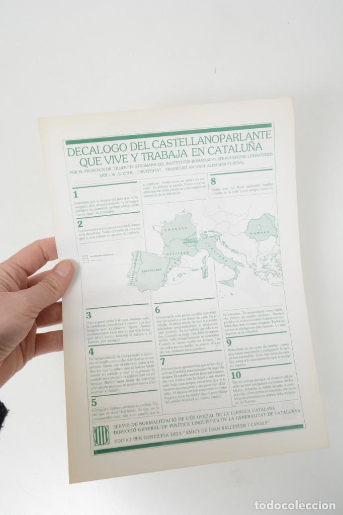Coleccionismo: Decàleg del catalanoparlant 1983 - Foto 5 - 254522735