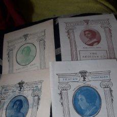Coleccionismo: CUATRO PROGRAMAS DEL TEATRO FONTALBA, TRES DE 1927 Y UNO DE 1929,PRIMERA ACTRIZ, MARGARITA XIRGU. Lote 254545985