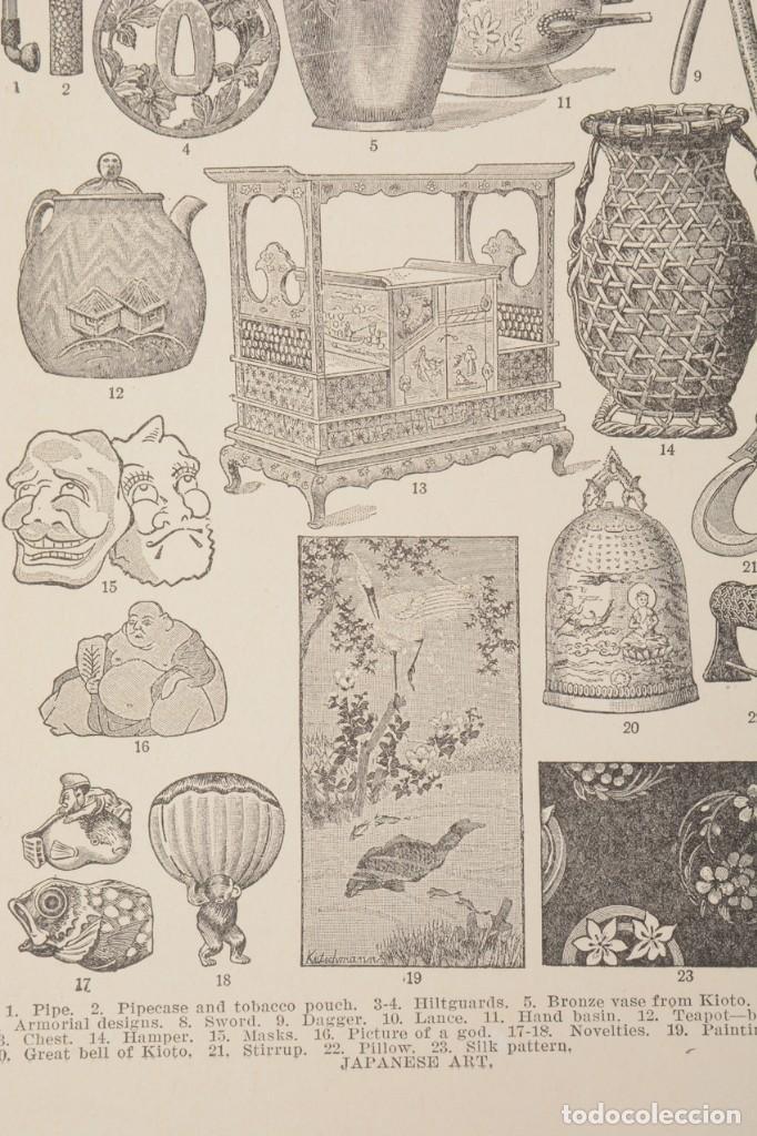 Coleccionismo: Lamina de enciclopedia antigua arte japonés blanco y negro - Foto 3 - 254613570