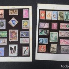 Coleccionismo: DOS LAMINAS DE ENCICLOPEDIA ESPASA CALPE SELLOS DE DIFERENTES PAÍSES. Lote 254614780
