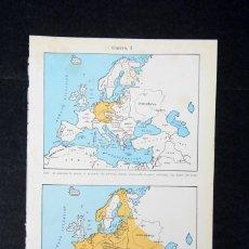Coleccionismo: AMINA DE ENCICLOPEDIA ESPASA CALPE MAPAS DE LA II GUERRA MUNDIAL. Lote 254615540