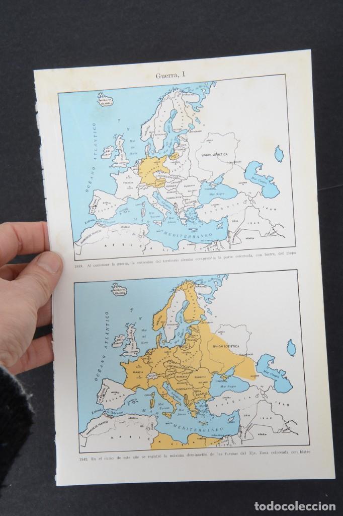 Coleccionismo: amina de enciclopedia Espasa Calpe mapas de la II Guerra mundial - Foto 7 - 254615540