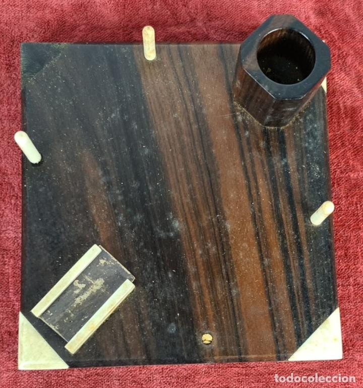 Coleccionismo: CIGARRERA. MADERA CON REMATES DE HUESO. ESTILO ART DECÓ. SIGLO XX. - Foto 2 - 254667430