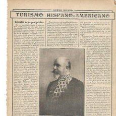 Coleccionismo: AÑO 192 RECORTE PRENSA CONDE DE ARTAL PRESIDENTE CAMARA OFICIAL ESPAÑOLA COMERCIO INDUSTRIA. Lote 254801385