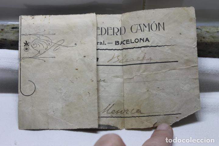 Coleccionismo: TALLER DE ESCULTURA DE FEDERICO CAMON, MODERNISMO, BARCELONA AÑOS 20. - Foto 2 - 254864045