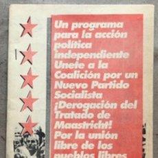 Coleccionismo: CNPS (COALICIÓN POR UN NUEVO PARTIDO SOCIALISTA). PROGRAMA POLÍTICO DE 1994.. Lote 134783742