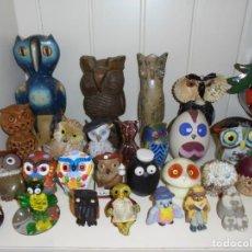 Coleccionismo: LOTE BUHOS FIGURAS CERÁMICA VARIOS¡¡¡. Lote 255545200