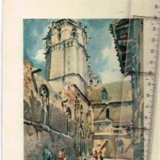 Coleccionismo: BELLA IMAGEN DE IGLESIA REPRODUCCIÓN DE UN CUADRO DE 1952 (AUTOR ILEGIBLE). Lote 256111680