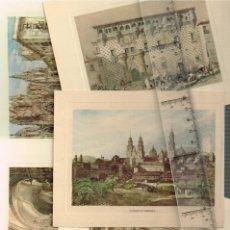 Coleccionismo: LOTE 5 ILUSTRACIONES CLÁSICAS DE DIVERSOS MONUMENTOS ESPAÑOLES MUY INTERESANTE. Lote 256146080