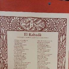 Coleccionismo: EL RABADÀ. JOAN AMADES. ATENEU IGUALADÍ. NADAL 1989.. Lote 256163530