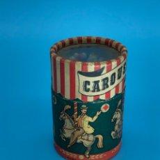Coleccionismo: BONITA Y ANTIGUA CAJA DE CERILLAS DE COLORES CAROUSEL MADE IN ITALY. Lote 257428855