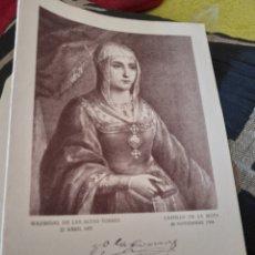 Coleccionismo: DICTICO DE QUINIENTOS ANIVERSARIO DEL NACIMIENTO DE ISABEL LA CATOLICA. Lote 257979415