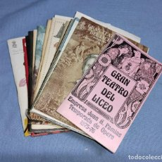 Coleccionismo: GRAN LOTE DE PROGRAMAS DEL GRAN TEATRO DEL LICEO DEL AÑO 68 AL 76 EN EXCELENTE ESTADO. Lote 259230650