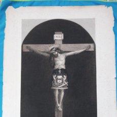 Coleccionismo: LÁMINA ANTIGUA SANTO CRISTO DE MANACOR -1888. Lote 259709365