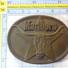 Coleccionismo: HEBILLA DE TABACO CIGARRILLOS MARLBORO. TIPISMO AMERICANO ESTRELLA BÚFALO 1987. 130GR. Lote 260074065