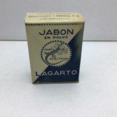Coleccionismo: RARO PAQUETE DE JABON EN POLVO LAGARTO - MUESTRA GRATUITA. Lote 260857635