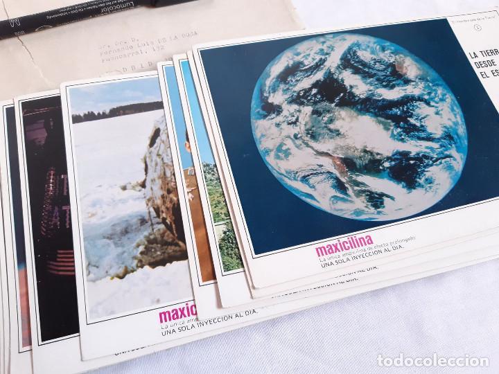 Coleccionismo: Fichas Carrera Espacial. Publicidad farmacia Maxicilina. El Hombre sale de la Tierra. 1969 - Foto 3 - 261277945