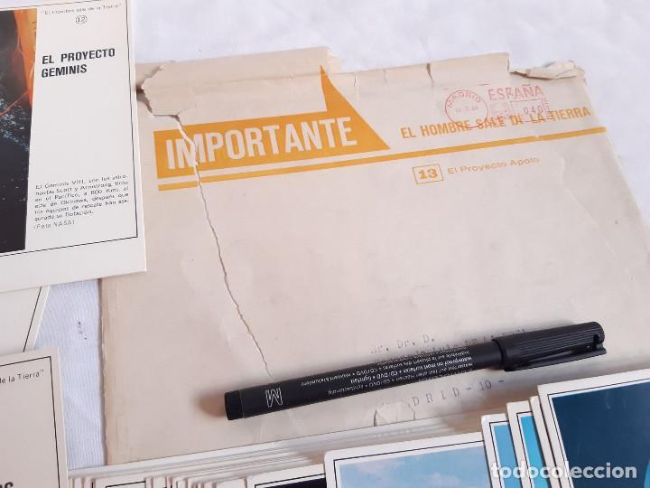 Coleccionismo: Fichas Carrera Espacial. Publicidad farmacia Maxicilina. El Hombre sale de la Tierra. 1969 - Foto 4 - 261277945