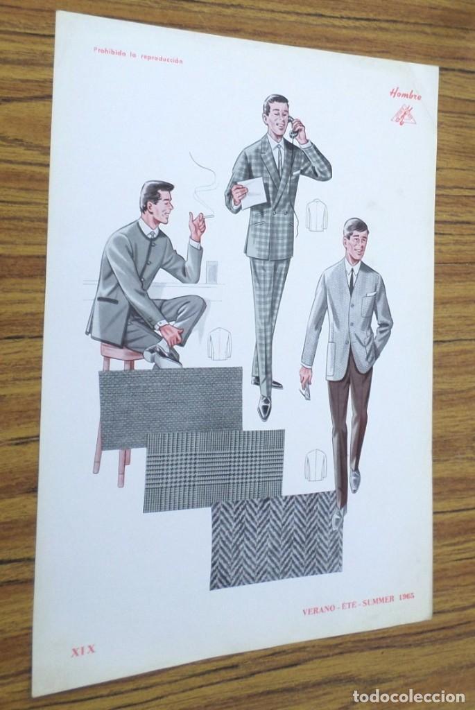 LAMINA DE MODA HOMBRE -- VERANO 1965 (Coleccionismo - Laminas, Programas y Otros Documentos)