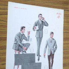 Coleccionismo: LAMINA DE MODA HOMBRE -- VERANO 1965. Lote 261284325
