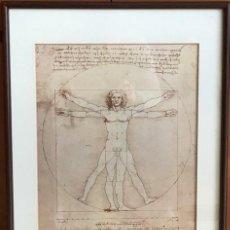 Coleccionismo: POSTER DEL ICONIC VITRUVIAN MAN DE LEONARDO. Lote 261284905