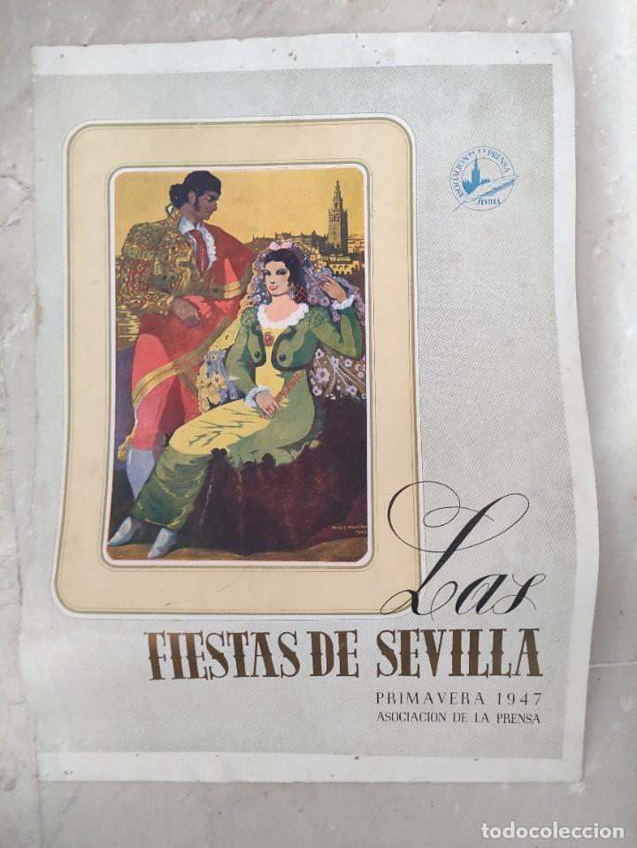 PROGRAMA FIESTAS DE SEVILLA PRIMAVERA 1947 (Coleccionismo - Laminas, Programas y Otros Documentos)