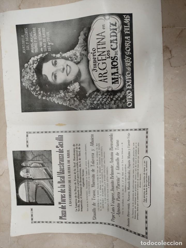 Coleccionismo: Programa fiestas de Sevilla primavera 1947 - Foto 2 - 261285820