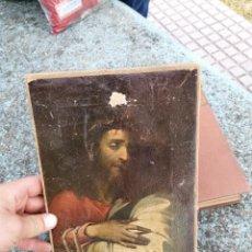 Coleccionismo: MARCO CRISTO LIENZO CON LAMINA. Lote 261992030