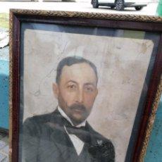 Coleccionismo: CUADRO SEÑOR ANTIGUO HECHO EN CARBONCILLO. Lote 261993080