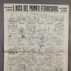 Coleccionismo: AUCA/ALELUYA PRIMER FERROCARRIL AMB L'HISTORIA D'EN BIADA-CENTENARI 1848-1948 EUSEBI VIDIELLA. Lote 262276010