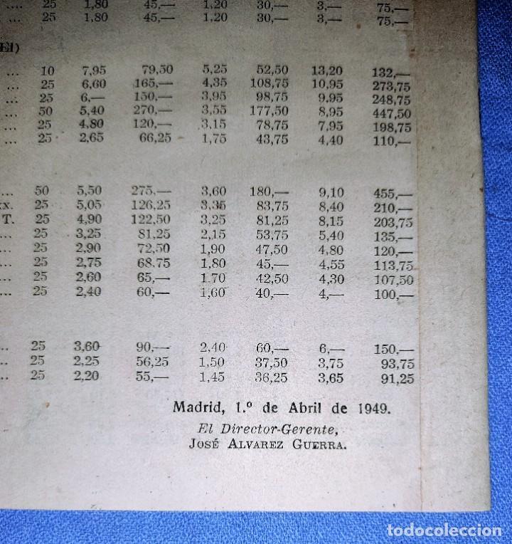 Coleccionismo: TARIFA PRECIOS VENTA CIGARROS ISLA DE CUBA CON SELLO TABACALERA DE TORTOSA AÑO 1949 - Foto 3 - 262920310