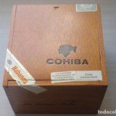 Coleccionismo: BOX CAJA DE MADERA 8 CIGARS PUROS HABANOS ROBUSTOS COHIBA LA HABANA CUBA. Lote 279471358