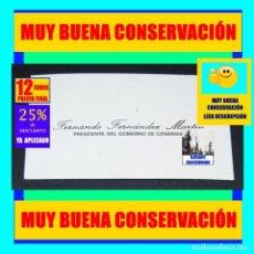 Coleccionismo: FERNANDO FERNÁNDEZ MARTÍN - PRESIDENTE DEL GOBIERNO DE CANARIAS - TARJETA DE VISITA - MUY RARA - 12€. Lote 263805260