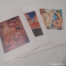 Coleccionismo: LOTE DE 24 LAMINAS DE CUADROS DE PINTORES FAMOSOS DE DIFERENTES ESTILOS. Lote 265934903