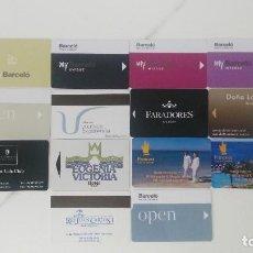 Coleccionismo: ¡¡¡OFERTA!!! 17 TARJETAS LLAVES DIFERENTES DE HOTEL 2. Lote 266114968