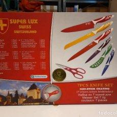 Coleccionismo: CAJA DE CUCHILLOS ( 7 PCS KNIFE SET ). Lote 266391423