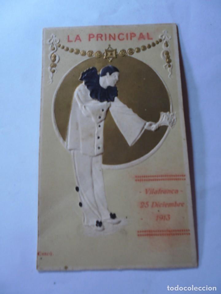MAGNIFICO PROGRAMA VILAFRANCA DEL PENEDES LA PRINCIPAL DE 1913 (Coleccionismo - Laminas, Programas y Otros Documentos)