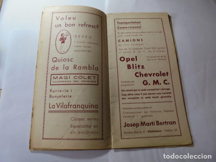 Coleccionismo: magnifico antiguo programa fires i festes de vilafranca del penedes 1934 - Foto 5 - 266522758