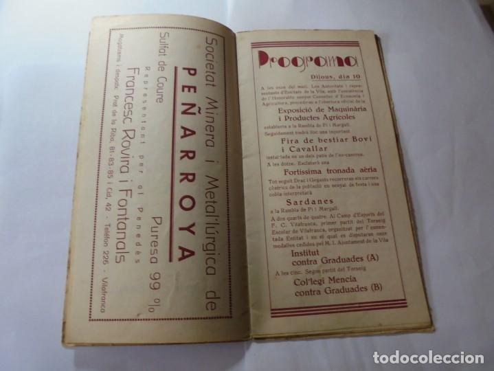 Coleccionismo: magnifico antiguo programa fires i festes de vilafranca del penedes 1934 - Foto 6 - 266522758