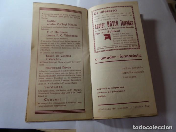 Coleccionismo: magnifico antiguo programa fires i festes de vilafranca del penedes 1934 - Foto 10 - 266522758
