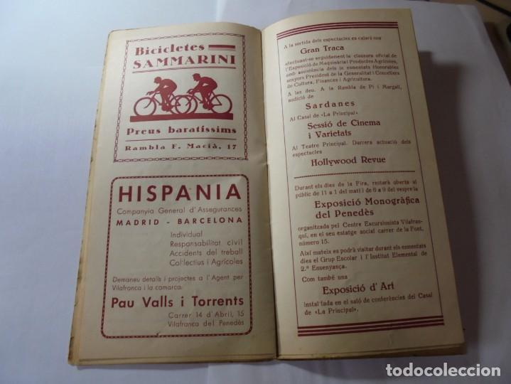 Coleccionismo: magnifico antiguo programa fires i festes de vilafranca del penedes 1934 - Foto 11 - 266522758