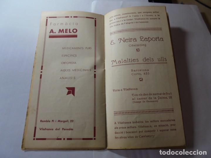 Coleccionismo: magnifico antiguo programa fires i festes de vilafranca del penedes 1934 - Foto 12 - 266522758