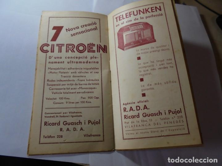 Coleccionismo: magnifico antiguo programa fires i festes de vilafranca del penedes 1934 - Foto 15 - 266522758