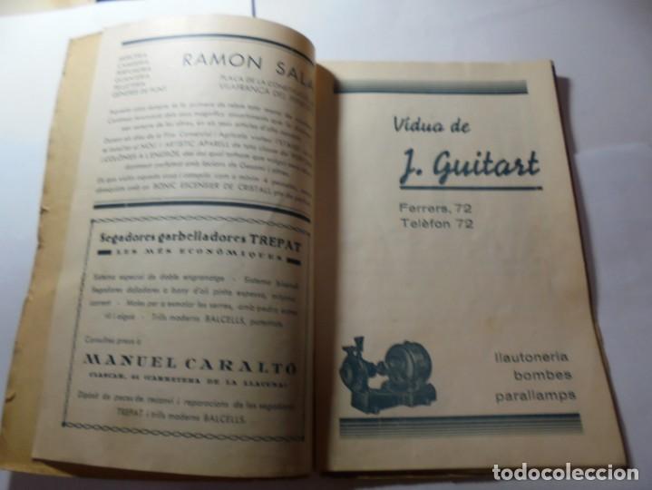 Coleccionismo: magnifico antiguo programa de vilafranca del penedes fira comercial y agricola 1936 - Foto 3 - 266803474